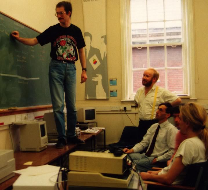 1989 - planning multimedia on a chalk board