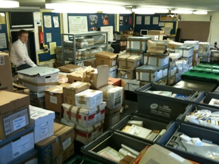 Boxes and crates of the National Archive of Educational Computing