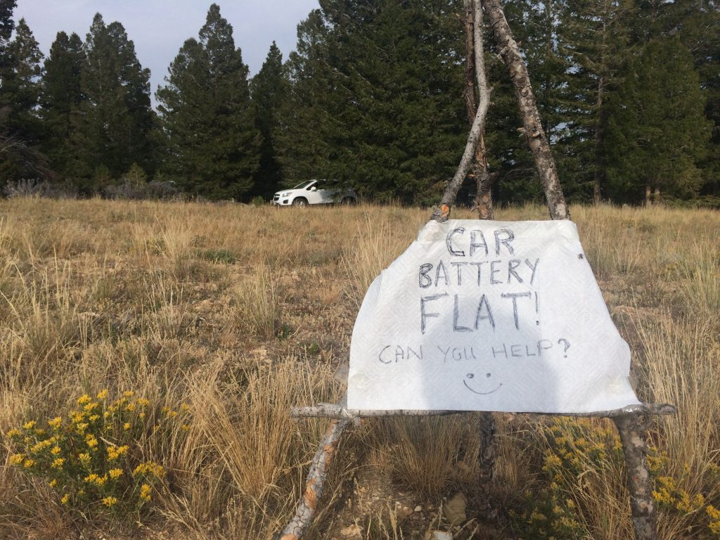 Flat battery sign