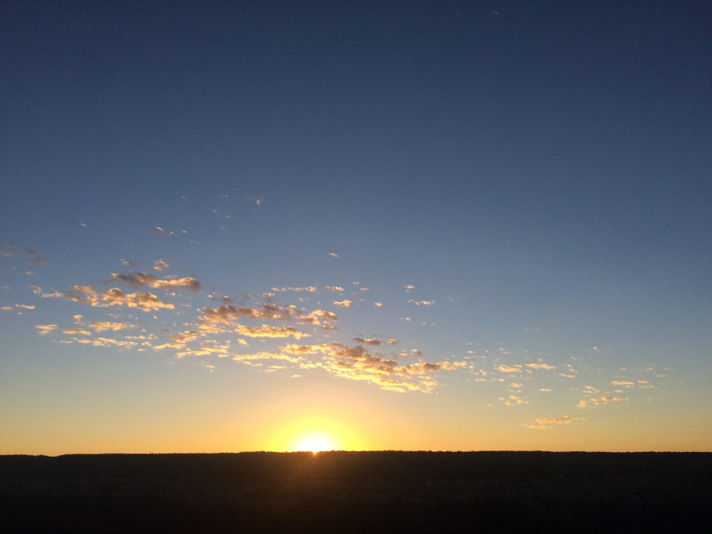 Sun rise at Grand Canyon