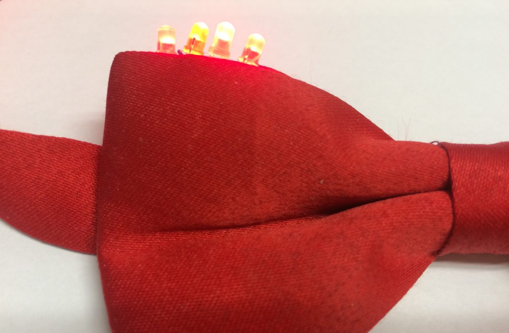Bow tie with LED lights
