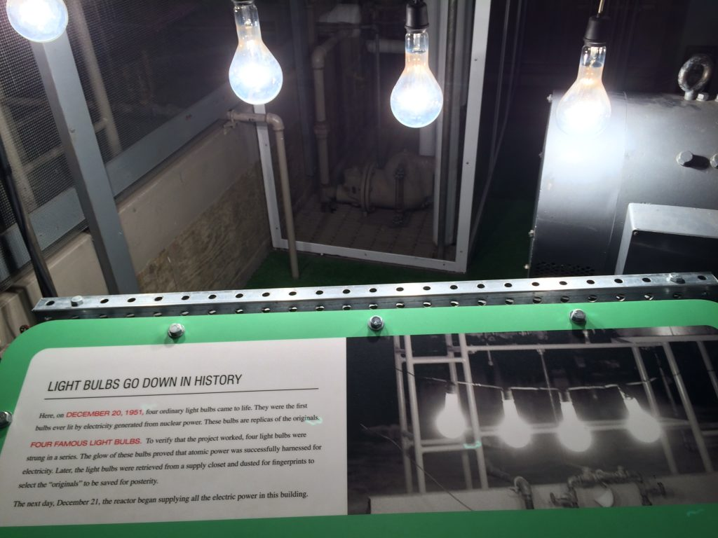 Four famous light bulbs lit on Dec 20 1951 proving the potential for nuclear power