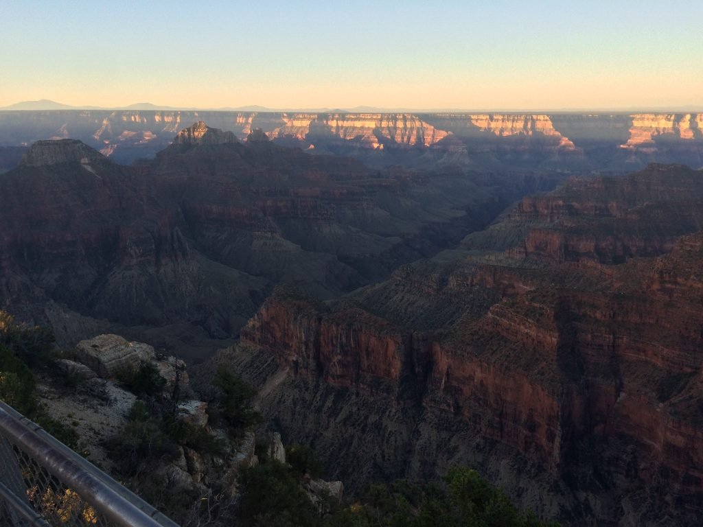 Grand Canyon lit by sunrise