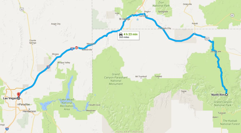 Las Vegas to North Rim